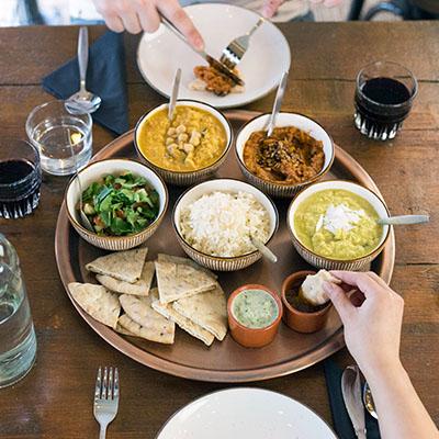Indian sharing platter